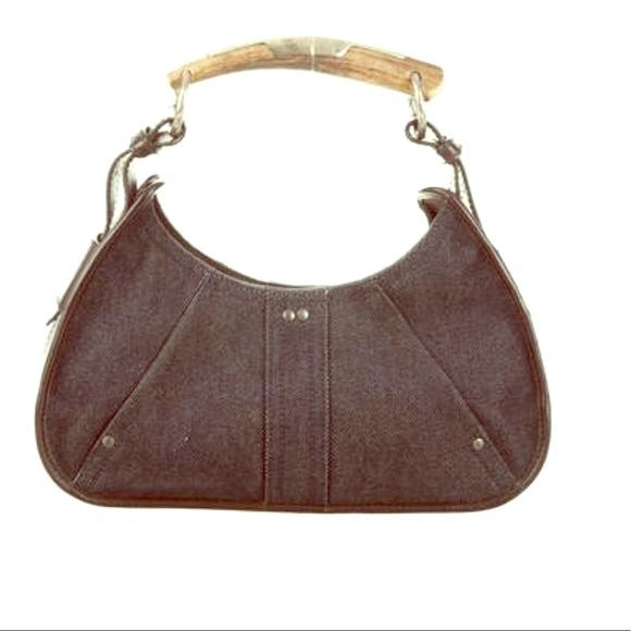 5d995577a7 Yves Saint Laurent Mombasa HORN bag!! M 5b49287345c8b36eac9f742e